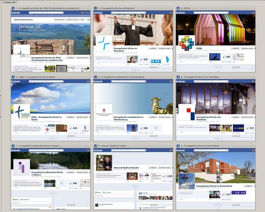 Landeskirchliche Facebook-Seiten im Überblick